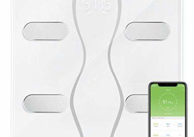 belle balance connectée fonction mesures corporelles ITEKNIC  pese personne avec bluetooth