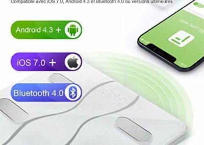 compatibilité ios et android ethnik balance connectée bluetooth