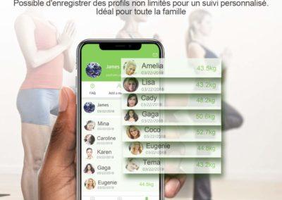 modèle app mobile balance connectée ethnik