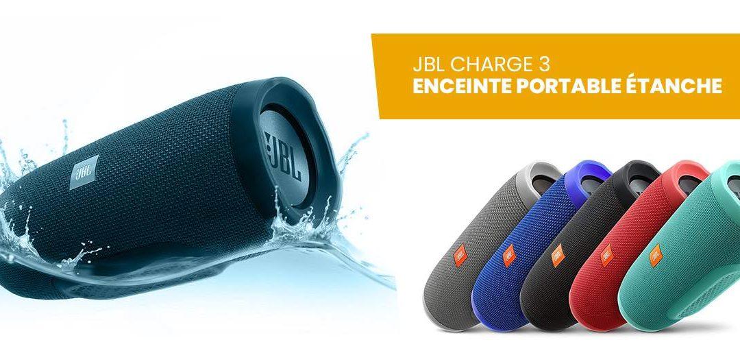 Avis et comparatif enceinte portable JBL Charge 3