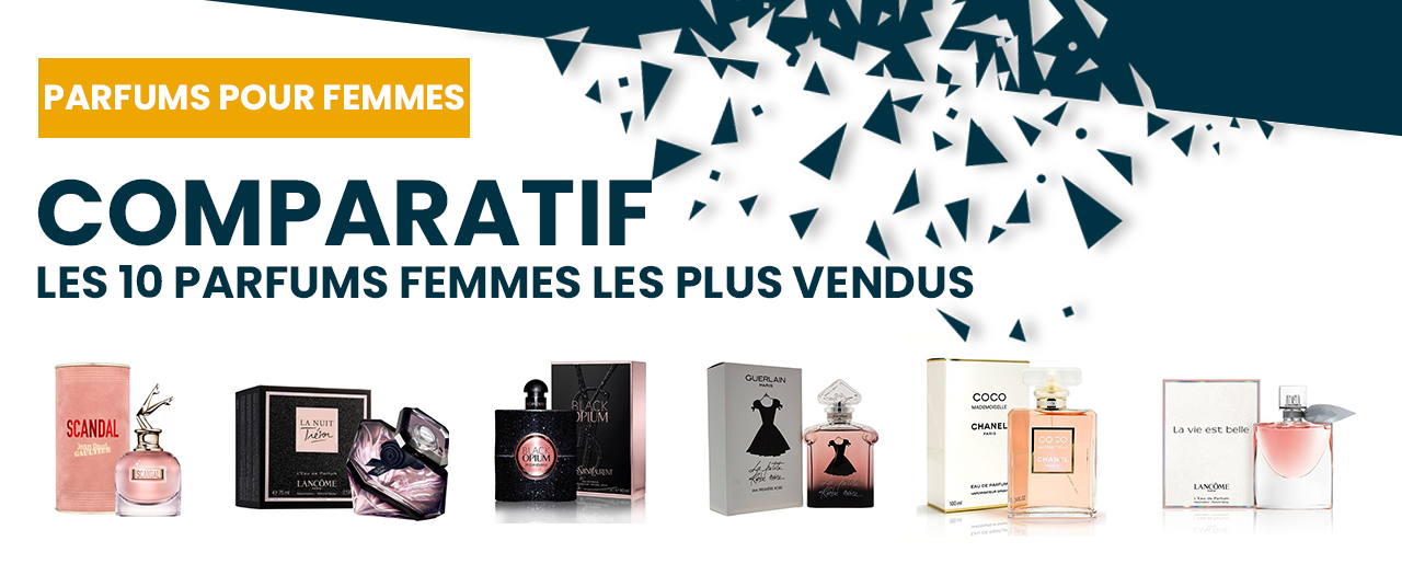 Les 10 parfums femmes les plus vendus