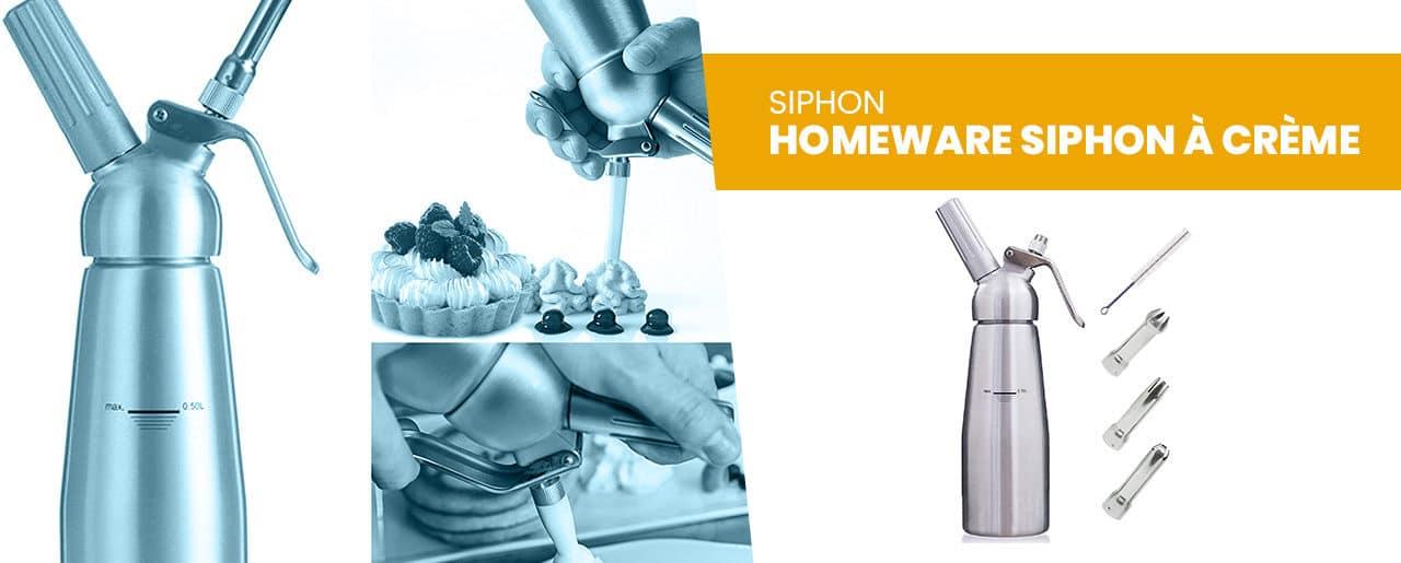 Le Homeware Siphon à crème professionnel