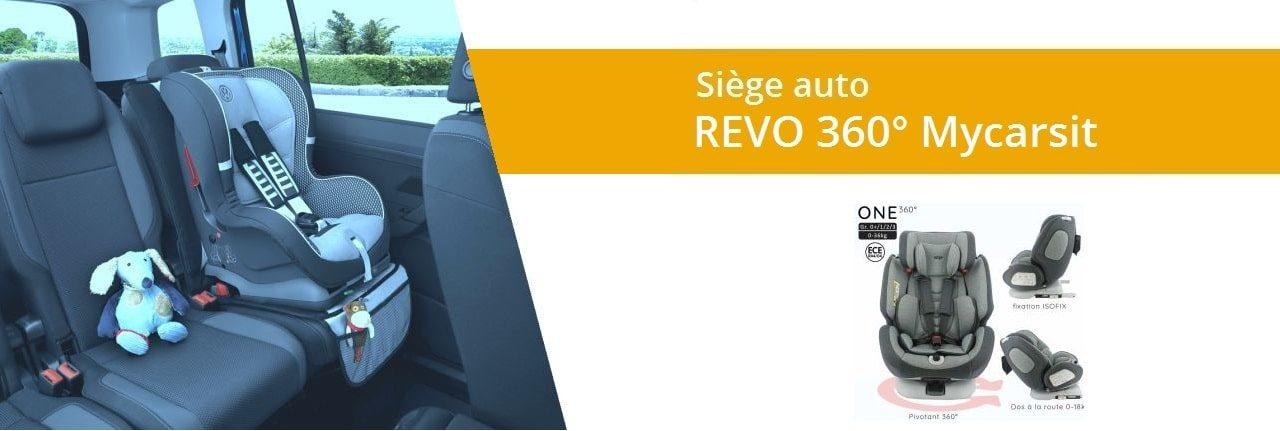 Avis et Test du siège auto revo nania 360 degrés