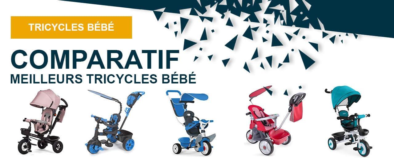 Quel est le meilleur tricycle pour bébé ? 5 produits au banc d'essai