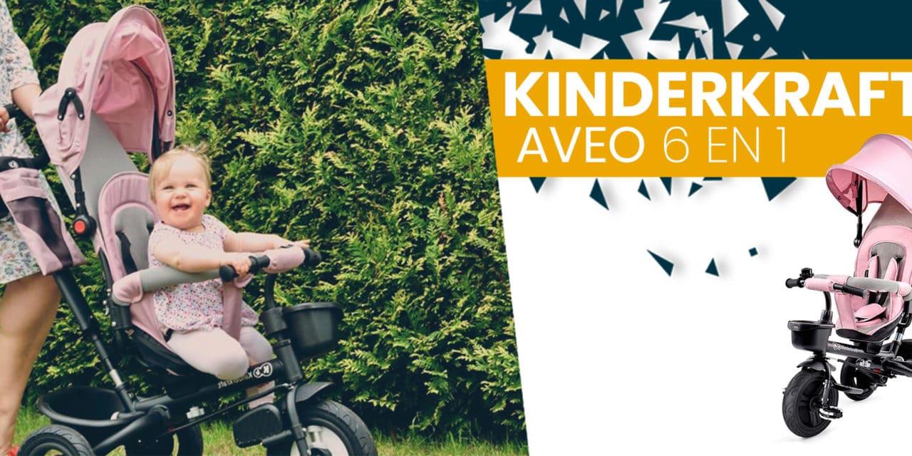 Avis et caractéristiques tricycle Kindercraft Aveo 6 en 1