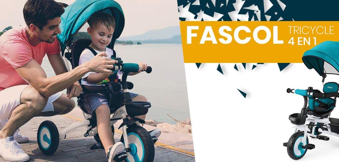 Avis et caractéristiques tricycle Fascol 4 en 1