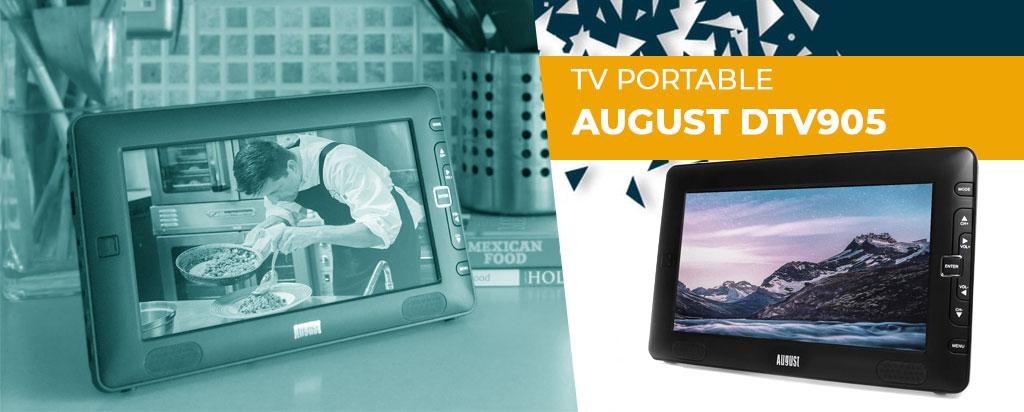 Télévision August DTV905 TV portable 9'': découvrez notre test/avis complet !