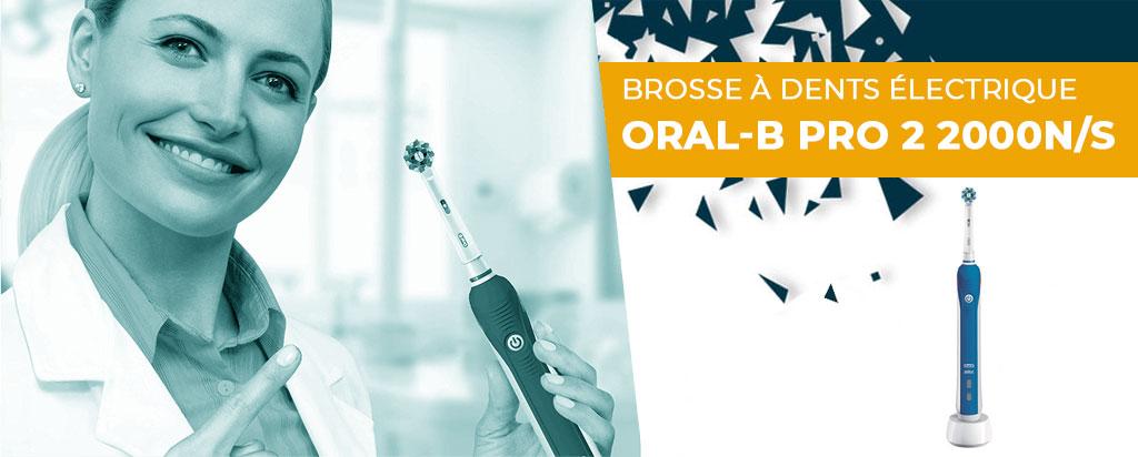 Brosse à dent électrique Oral-B Pro 2 2000N et 2000S